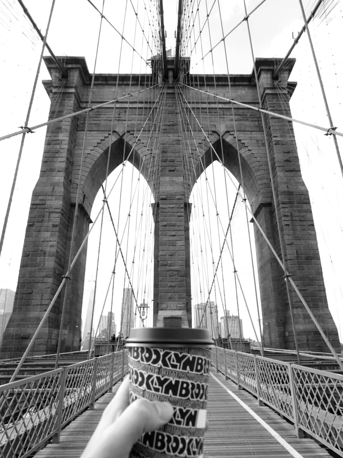 Brooklyn bridge and drip coffee from Brooklyn Roasting Cie
